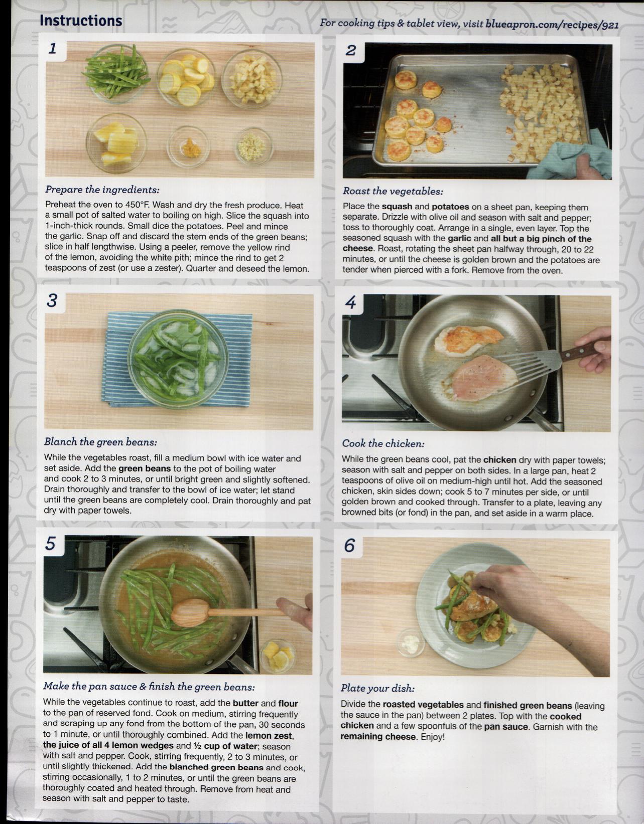 Blue apron yellow squash - Blue Apron Blueapron Cooking With Adam Cookingwithadam Green Beans Home Cooking Lemon Chicke Parmesan Potatoes Summer Squash